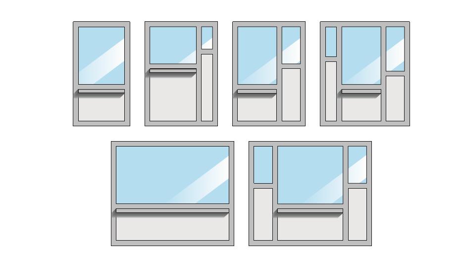 des exemples de configurations de guichets Metal Quartz